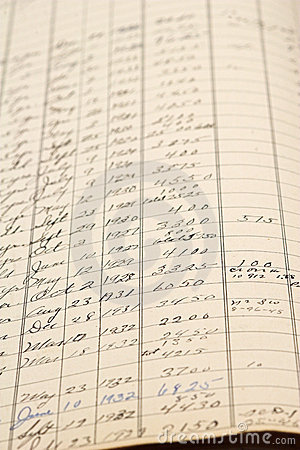 Old Accounting Ledger