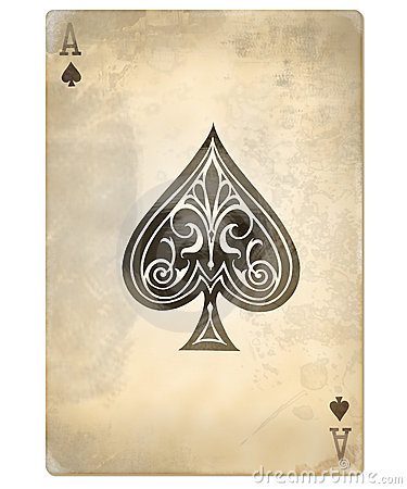 Free Old Ace Of Spades Royalty Free Stock Photo - 6477115