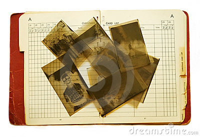 Old Address Book and Negatives