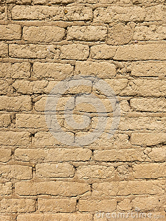 Free Old Adobe Brick Wall Royalty Free Stock Image - 30891646