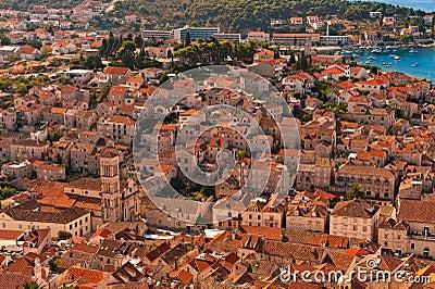 Old Adriatic island town Hvar. Croatia