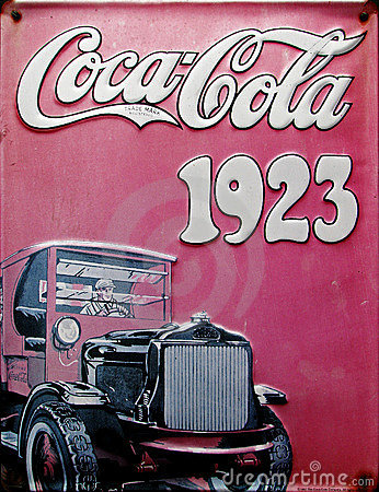 Old advert - Coca cola 1923 Editorial Photo