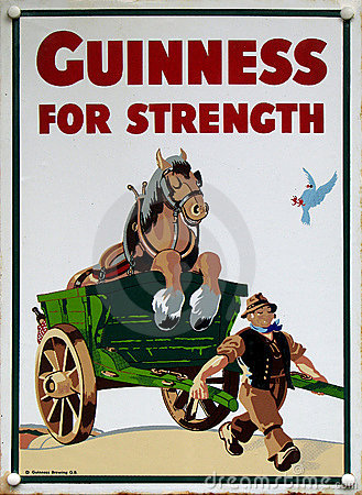 Free Old Advert - Guinness Royalty Free Stock Image - 16171026