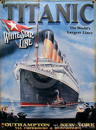 Old advert - Titanic Editorial Photo