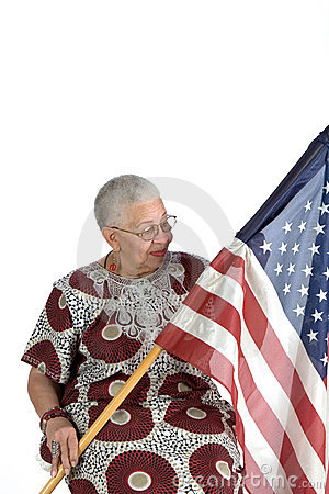 Old african american lady