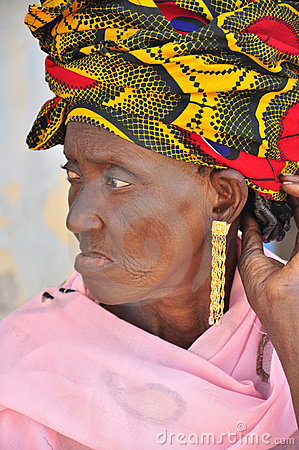 Old african women with turban Editorial Image