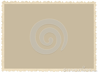 Old aged grunge edge sepia photo, blank empty horizontal background, isolated yellow beige vintage photograph picture card frame Stock Photo