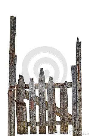 Free Old Aged Weathered Rural Ruined Grey Wooden Gate, Isolated Gray Wood Garden Fence Entrance Gateway Large Detailed Vertical Closeup Royalty Free Stock Photos - 64597768