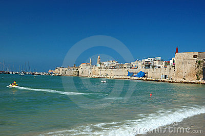 Old Akko Beach - Famous Ancient City Of Israel Stock Images - Image: 22233384