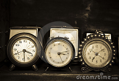 Old alarm clocks