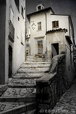 Old alley with steps