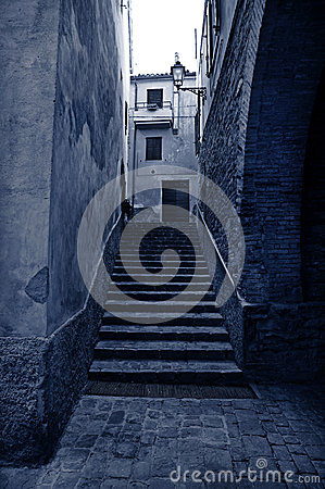 Free Old Alley With Stairs Stock Photos - 41140963