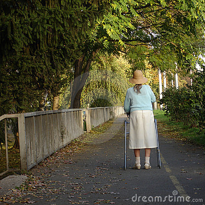 Old and alone lady