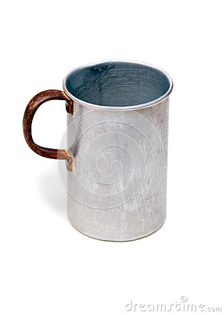 The old aluminium mug