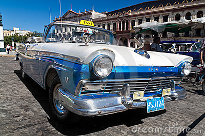 Old american car in Cuba Editorial Image