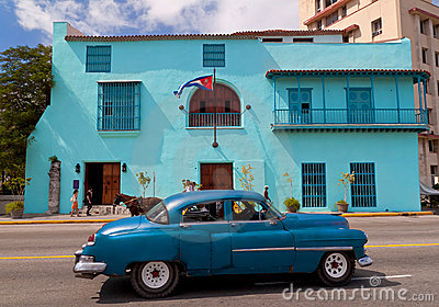 Old american car in Havana Editorial Photography
