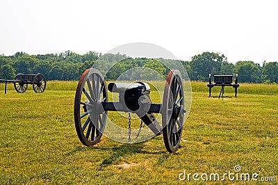 Old American Civil War cannon