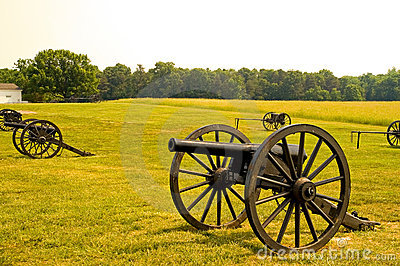 Old American Civil War cannons