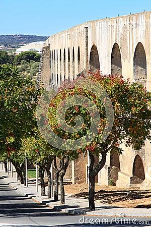 The old Amoreira Aqueduct near Elvas, Portugal
