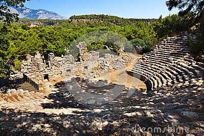 Old amphitheater Phaselis in Antalya, Turkey