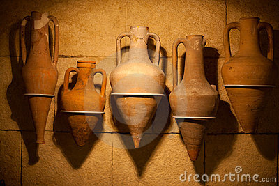 Old amphora Editorial Stock Image