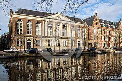 Old Amsterdam Building Editorial Stock Photo