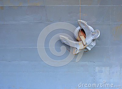 Old anchor is in the ship