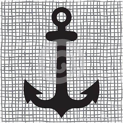 Old anchor silhouette