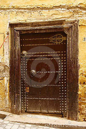 Free Old Ancient Door To A Arabic Home. Fes, Morocco Stock Image - 11327811
