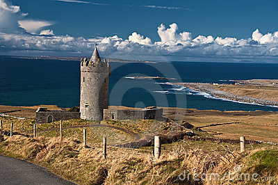 Old ancient irish castle on the west of ireland