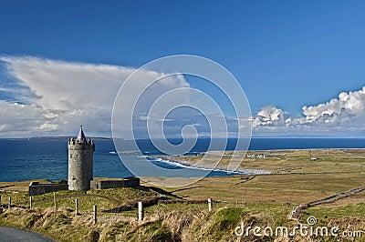 Old ancient irish castle in west of ireland