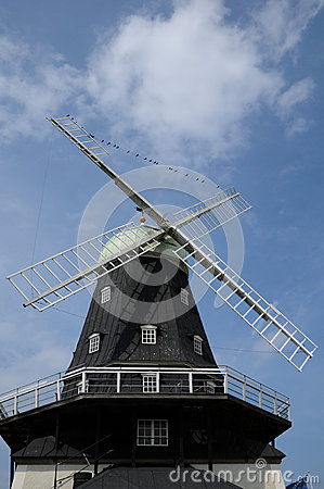 Free Old And Historical Windmill Of Sandvik Royalty Free Stock Photos - 33107048
