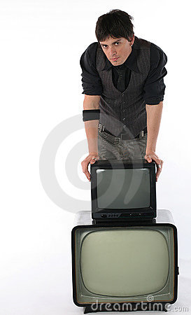 Free Old And New TV Technology Royalty Free Stock Photo - 2395165