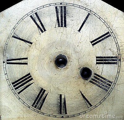 Free Old Antique Clock Face With Hands Removed Close-up Detail. Royalty Free Stock Photography - 1877457