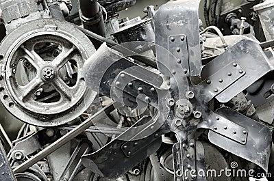 Old antique engine