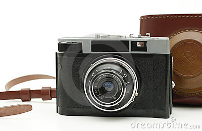 Old antique photo camera
