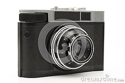Old antique photo camera