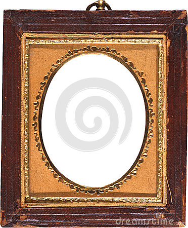 Old Antique Photo Frame with Gold Trimmed Oval