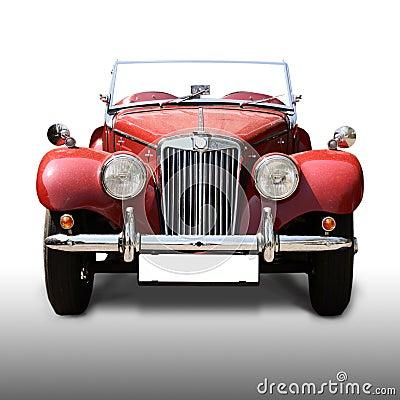 Old antique red car