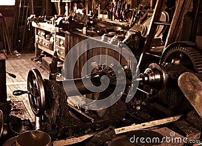 Old antique vintage workshop
