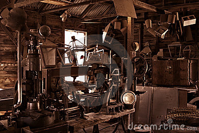 Old antique vintage workshop