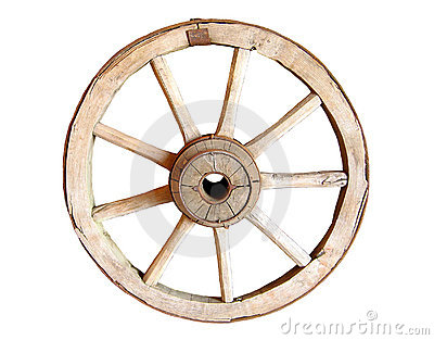 Old antique wagon wheel.