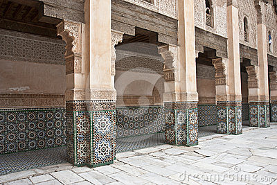 Old Arab Courtyard Archways