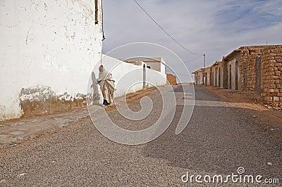Old arab man walking Editorial Stock Image