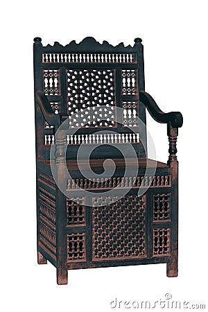Old arabesque chair