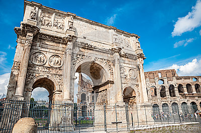 The old Arch of Constantine in Rome