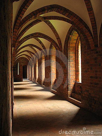 Old arched cloister