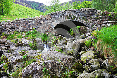 Old arched stone bridge