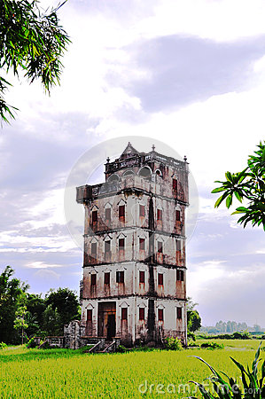 Free Old Architecture In The Field ,Chinese Old Tourism Building, Overseas Chinese Residence,canton Stock Image - 45936421
