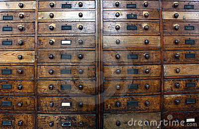 Old archive drawers cabinet